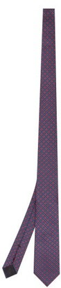 Gucci Clover And Gg-jacquard Silk Tie - Navy