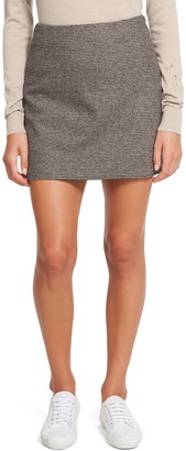 Theory Wool & Linen Blend A-Line Miniskirt