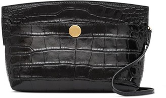 Burberry Society embossed crocodile-effect clutch