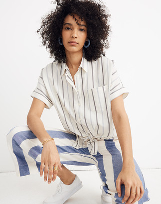 Madewell Tie-Front Shirt in Montpellier Stripe