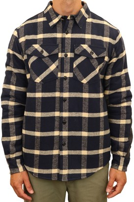 Men's Mountain and Isles Plaid Flannel Shirt Jacket