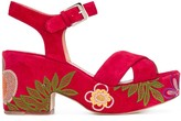 Laurence Dacade Nadine floral-embroidered sandals