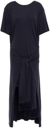 Mother of Pearl Jody Tie-front Layered Jersey Dress