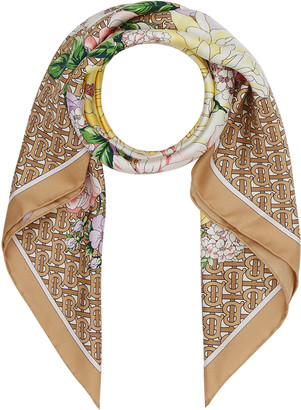 Burberry Archive Bouquet Floral Silk Scarf