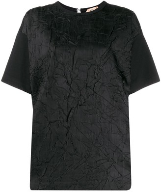 No.21 crinkle texture T-shirt