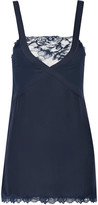 La Perla Whisper lace-trimmed jersey and georgette chemise