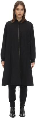 Liska Long Reversible Cotton Bomber Coat