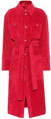Acne Studios Corduroy cotton trench coat