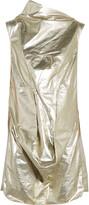 Rick Owens Seahorse draped metallic cotton-shell tunic