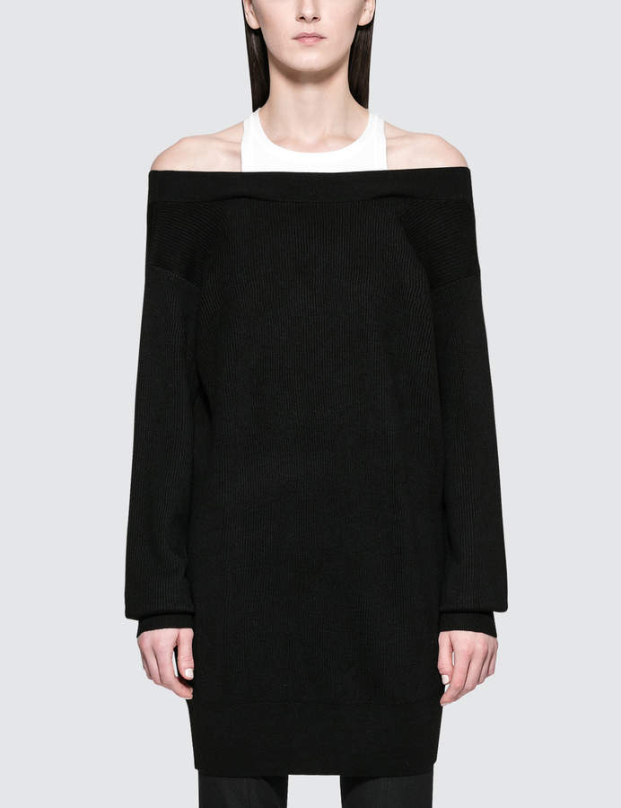 Alexander Wang Bi-layer Knit Dress With Inner Tank