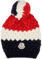 Moncler Striped Wool Blend Beanie