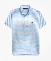 Brooks Brothers Original Fit Stripe Self Collar Polo Shirt