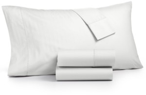 Martha Stewart Collection 4-Pc King Sheet Set, 400 Thread Count 100% Cotton Percale, Created for Macy's Bedding