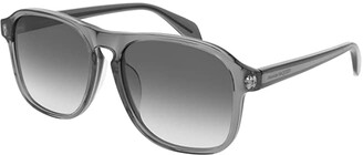 Alexander McQueen AM0246SA (Grey) Fashion Sunglasses