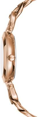 BCBGMAXAZRIA Rose Goldtone Stainless Steel Bracelet Watch