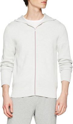 Tommy Hilfiger Men's Textured Zipped Hoody Sweater