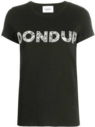 Dondup sequin logo embellished T-shirt