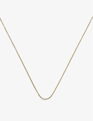 Monica Vinader Fine oval box 18ct yellow-gold vermeil chain