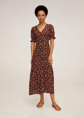 MANGO Floral print dress chocolate - 2 - Women