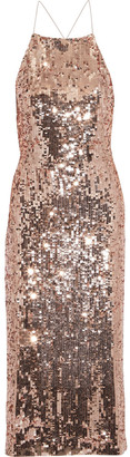 Jason Wu Collection Open-back Sequined Satin Dress