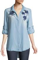 Velvet Heart Mckenna Embroidered Button-Front Blouse