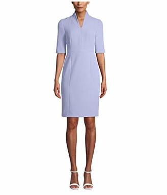 Anne Klein Women's 3/4 Sleeve Zip Front Sheath Dress