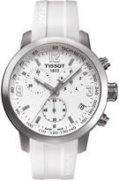 Tissot Men's PRC200 Chronograph Silicone Strap Watch, 41mm