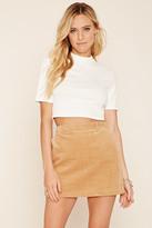 Forever 21 FOREVER 21+ Corduroy Mini Skirt