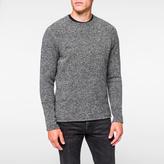 Paul Smith Men's Grey Merino Wool-Blend Bouclé Sweater