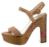 Paul Andrew Suede Platform Sandals