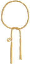 Carolina Bucci Peace Lucky 18-karat Gold And Silk Bracelet - one size