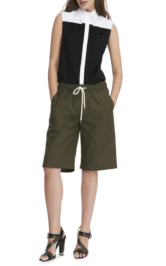 MSGM Drawstring Waist Cotton Shorts