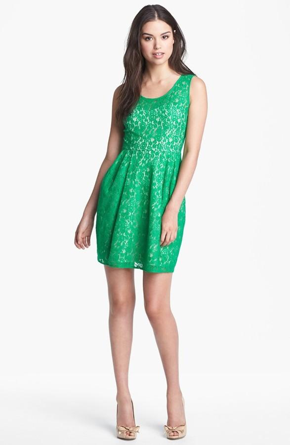 Betsey Johnson Lace Fit & Flare Dress