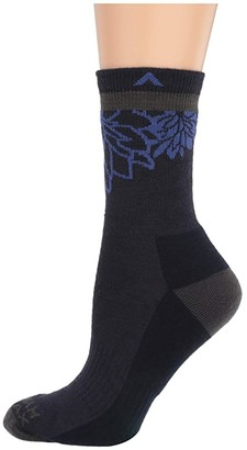 Wigwam Haiku Valley Pro (Navy II) Women's Crew Cut Socks Shoes