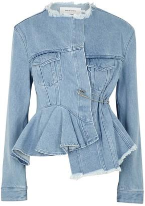 Marques Almeida Blue asymmetric denim jacket