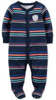 Carter's 1-Pc. Wild One Striped Footed Coverall, Baby Boys (0-24 months)