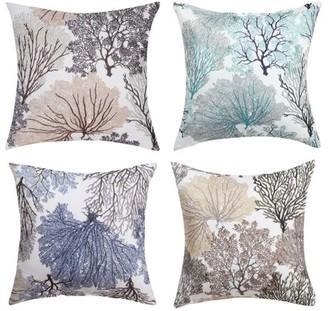 Unique Bargains Decorative Pillow Covers Classic Retro Pliad Throw Pillow Case Cover