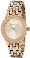 Anne Klein Women's AK/1930RGRG Diamond-Accented Dial Rose Gold-Tone Bracelet Watch