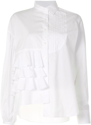 Kolor Ruffled Panel Cotton Shirt