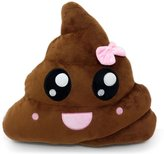CH Poop Emoji Smiley Emoticon Round Cushion Pillow Stuffed Cute Plush Soft Toy Doll Poop Purple Queen Poop Pink Queen Poop Rainbow Poop Rainbow Tongue Poop Car Home Office Accessory