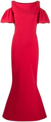 Le Petite Robe Di Chiara Boni Cut Out Shoulder Gown