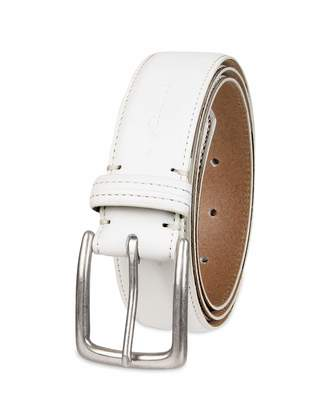 Columbia Men's Casual Leather Belt - Jeans Khakis Dress Silver Prong Buckle