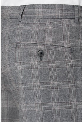 Jeff Banks Mulberry Check Soho Suit Trousers In Modern Regular Fit - Grey