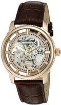 Stuhrling Original Men's Automatic Watch with Rose Gold Dial Analogue Display and Brown Leather Strap 393.3345K14
