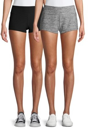 No Boundaries Juniors Knit Crop Shorts, 2-Pack