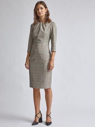 Dorothy Perkins Check High Neck Dress - Multi