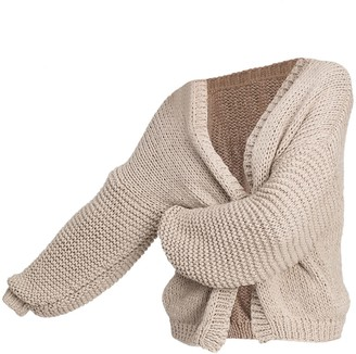 The Knotty Ones Marina Cardigan In Beige