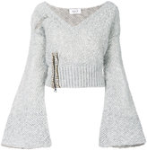 Aviu embellished V-neck jumper