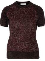 Erdem Henna Metallic Cloqué Sweater