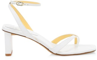 Alexandre Birman Nelly Square-Toe Leather Sandals